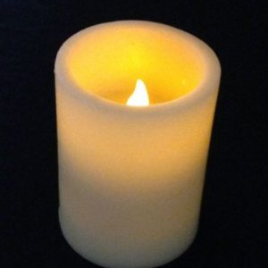 4in flameless wax candle