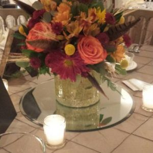 fall feather centerpiece