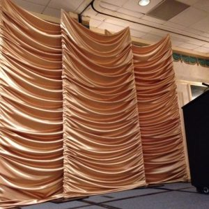 ruched fabric screens